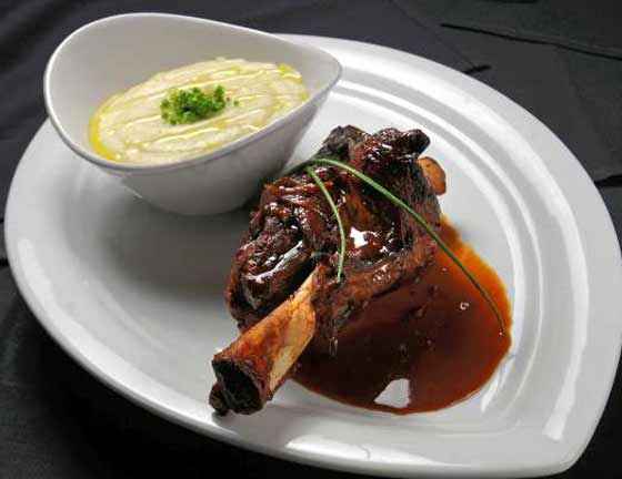 Bibi'z Lamb Shank and Mashed Potatoes