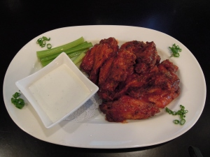 wings and house-made blue cheese dip