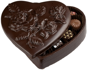 Chocolate Heart Shaped and Filled Box from Legends