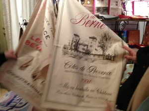 Dish towels, $20, imported from Provence