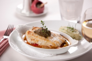 Cod with tapenade