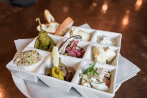Mezze plate with 9 salads and spreads ($23) - Melanie Lust photography