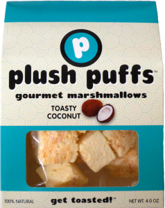 Toasty Coconut Plush Puffs Gourmet Marshmallows