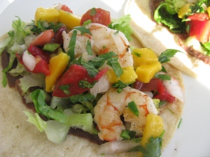 Mango Salsa served with shrimp